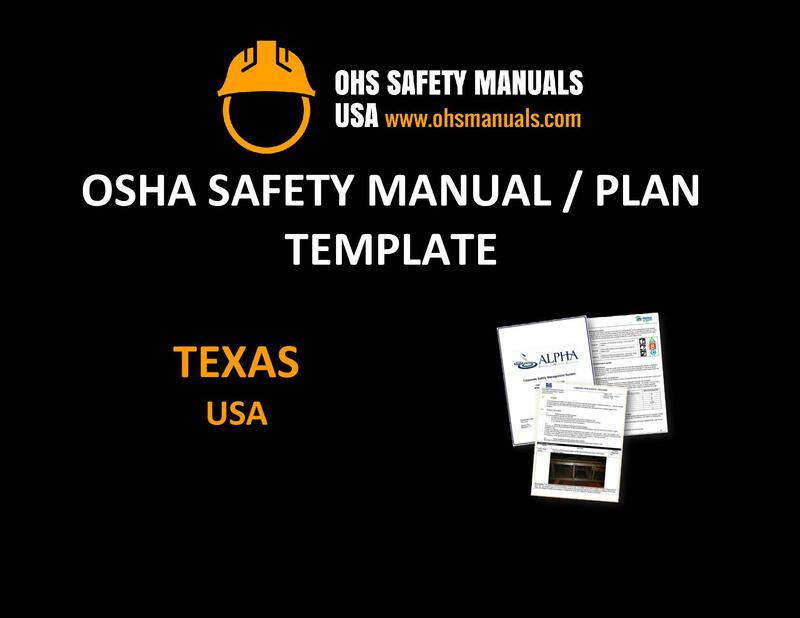 osha safety manual plan program template texas houston dallas san antonio